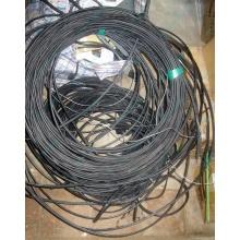 Оптический кабель Б/У для внешней прокладки (с металлическим тросом) в Ангарске, оптокабель БУ (Ангарск)